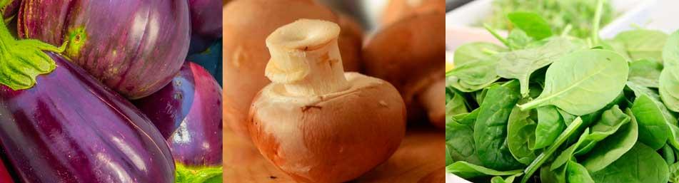 berenjena-champiñon-espinaca-bajos-en-calorias